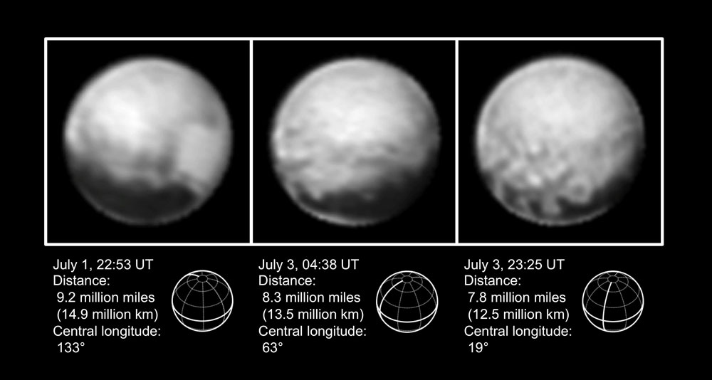 Latest Images of Pluto from New Horizons
