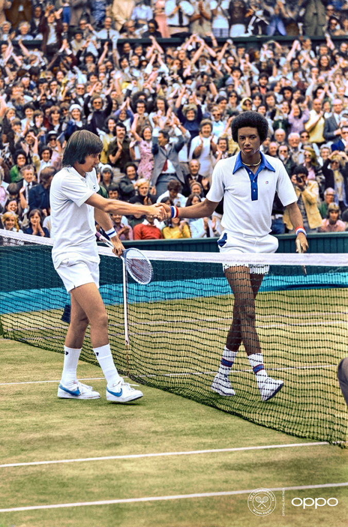 Arthur Ashe and Jimmy Connors