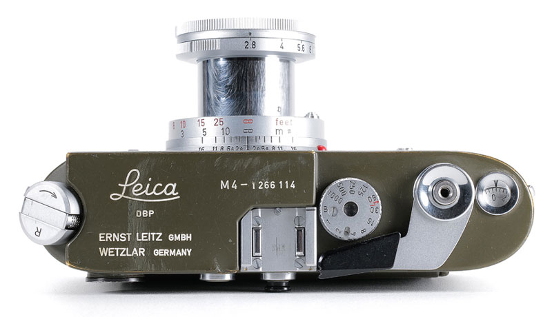 Leica-M4-camera-German-Federal-Armed-Forces-Bundeswehr-in-NATO-olive-gree
