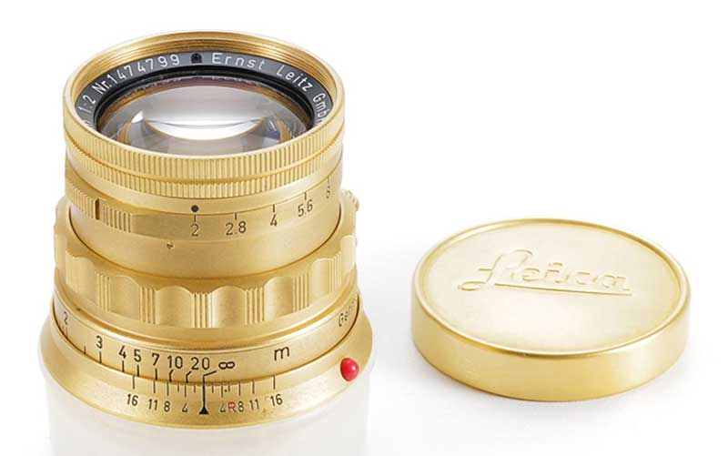 original-gold-plated-version-of-the-50-mm-Summicron-lens-for-the-Leica-M-from-1957